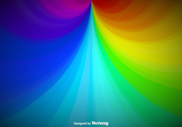 Vector Rainbow Background Template