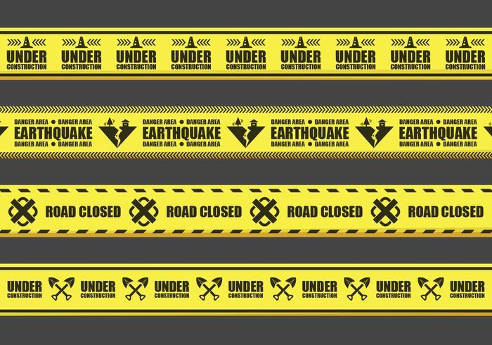 Advertencia vectores de casete