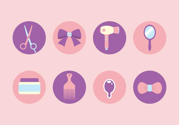 Free Hairdressing Tools Icon Vectors