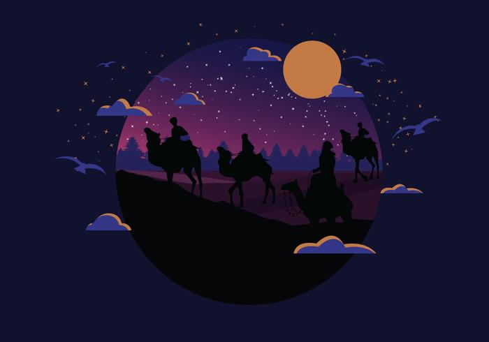 Moody Nighttime Epiphany Vector
