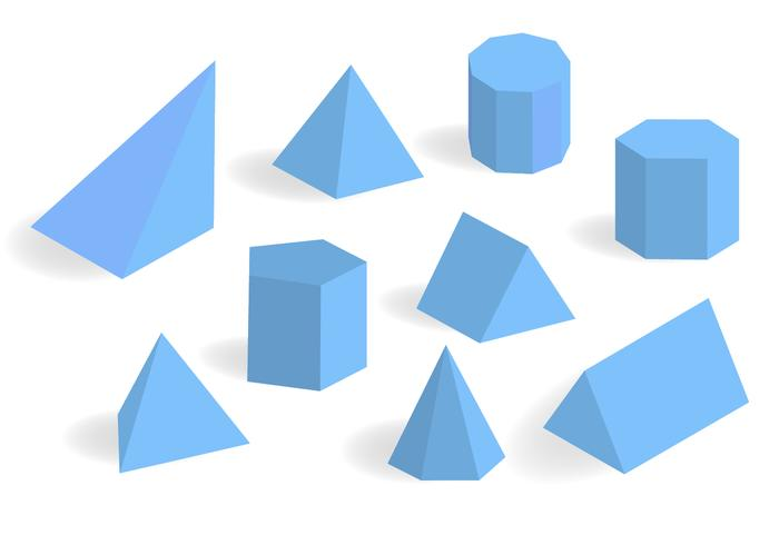 Blue Prisma och Prism Vector Set