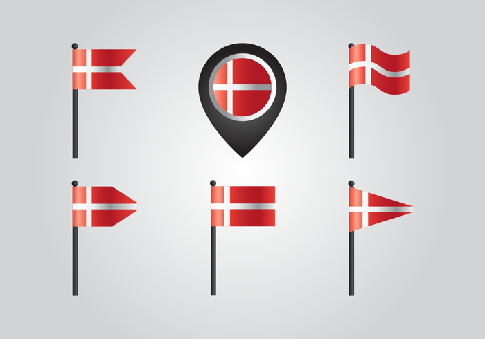 Denemarken Country Flag Vectors