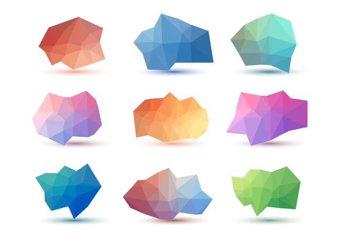 Free Abstract Low Poly Vector Collections