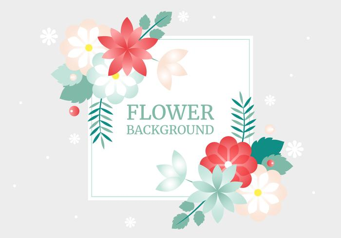 Free Spring Vector Flower Greeting Card