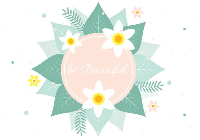 Free Spring Vector Flower Greeting