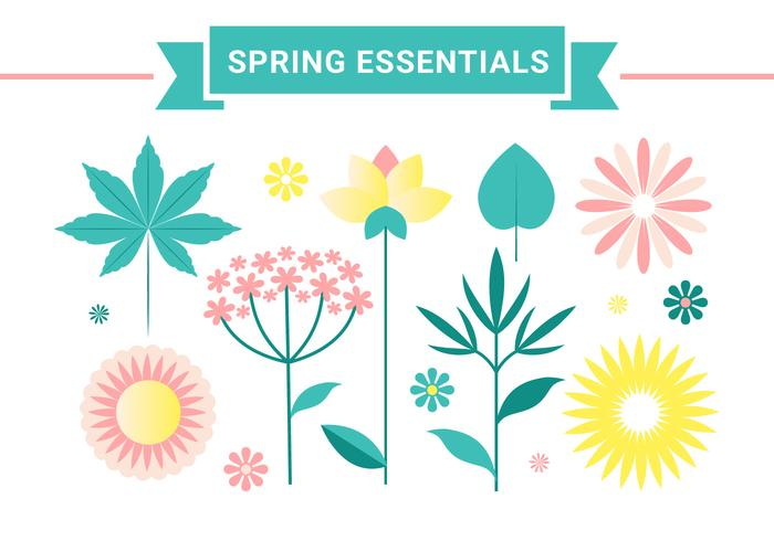 Free Vector Spring Flower Design
