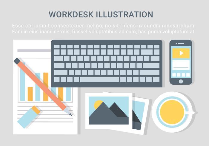 Free Vector Designer Desktop Illustration