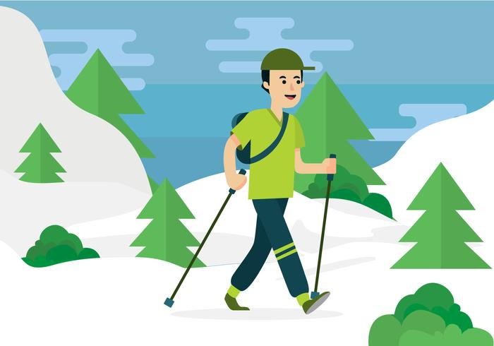 Nordic Walking Vector