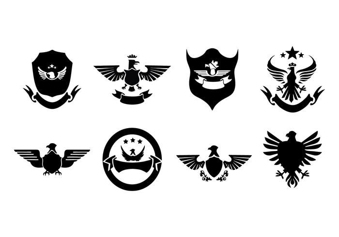 Gratis Eagle Emblem och logotyp insamling Vector
