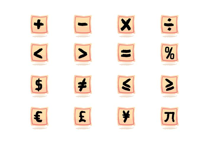 Math Symbols Free Vector Art 27923 Free Downloads