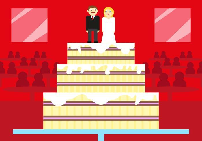 Boda Wedding Cake Vector Illustration