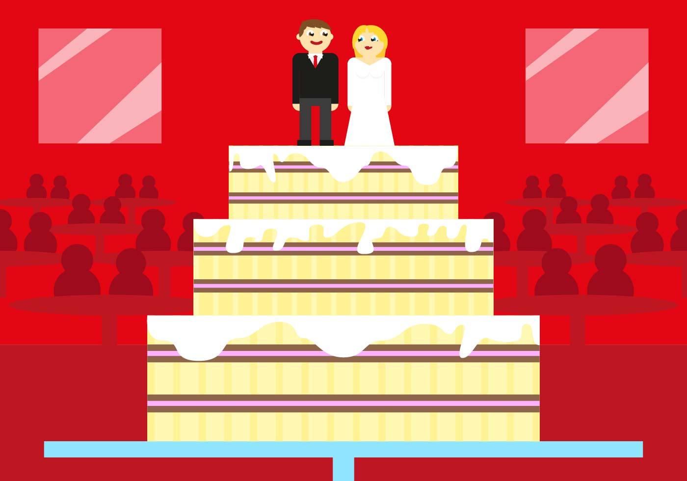 Boda Wedding Cake Vector Illustration - Download Free Vector Art ...