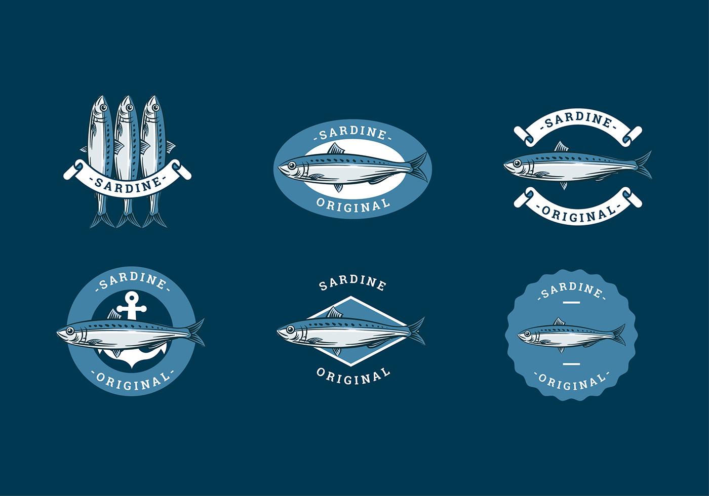 sardine logo mod u00e8le vectoriel gratuit