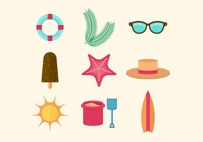 Gratis Flat Beach Icons