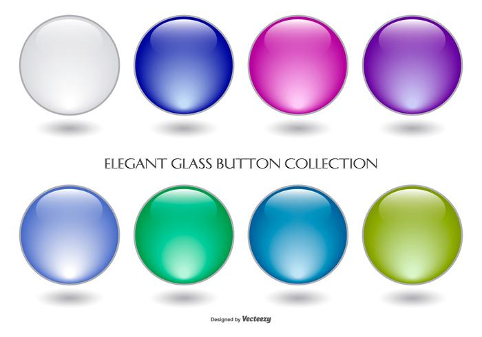 Colorful Glass Button Collection vector