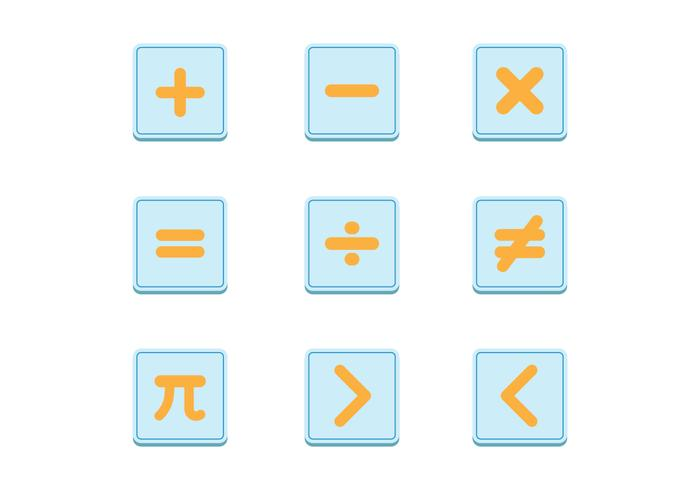 Math Symbols Vector Sets