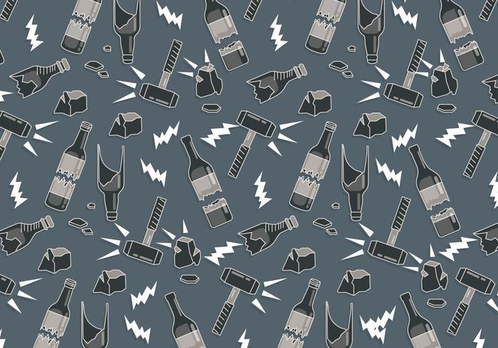 Trasig flaska mönster vektor