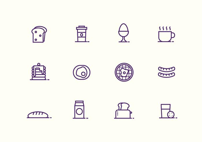 Breakfast And Bruch Vector Icons