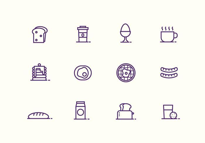 Colazione e icone vettoriali Bruch