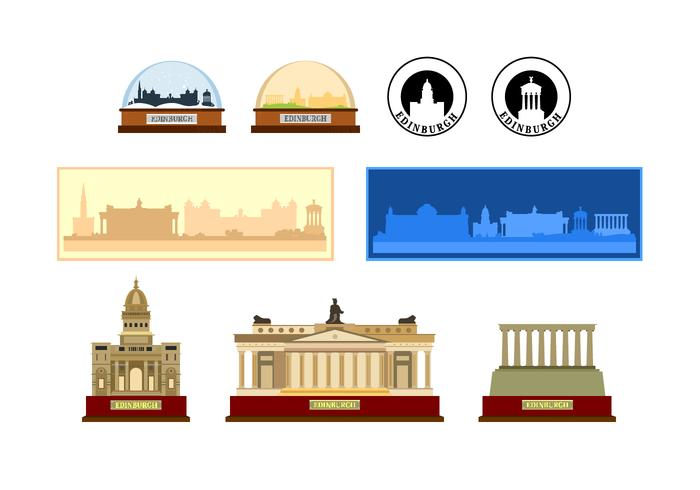 Edinburgh Souvenir Vectors