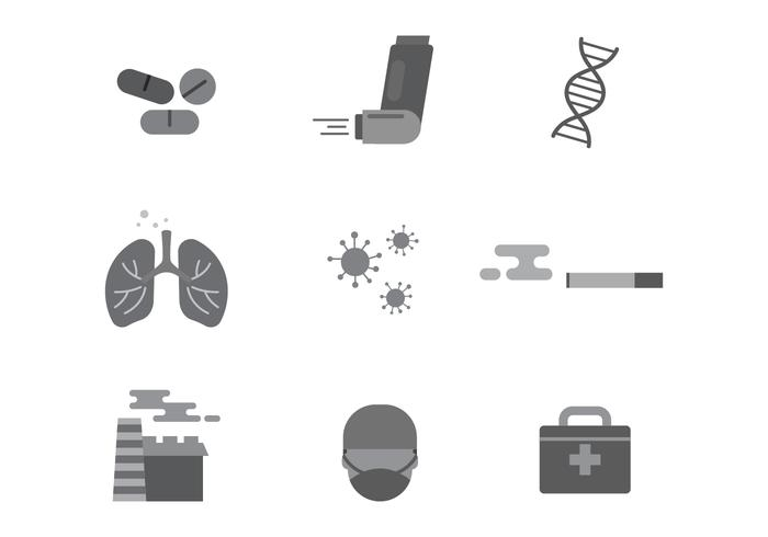 Free Asthma Medical Vector Icons