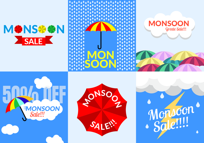 Monsoon Sale Vector
