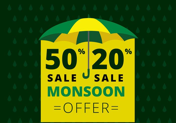 Monsoon Offer Template Free Vector