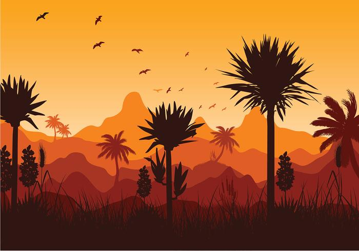 Yucca Mountain Sunset Free Vector