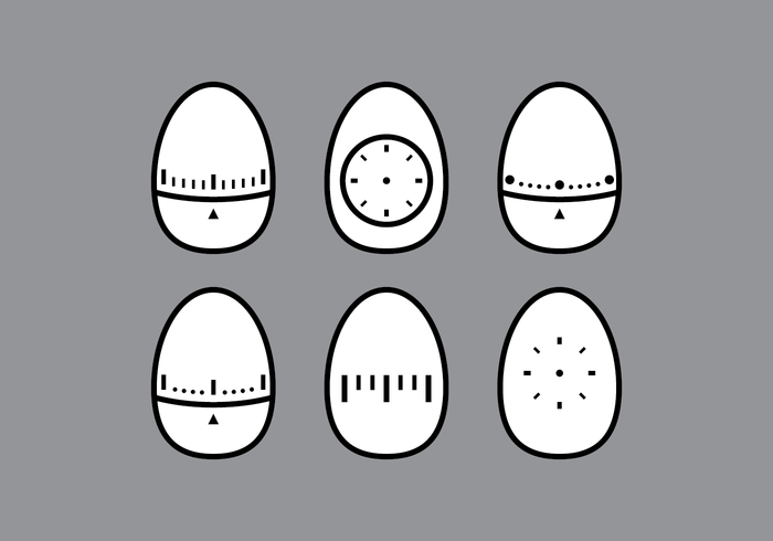 Vectores de temporizador de huevo