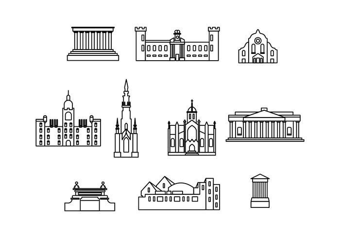 Gratis Edinburgh Landmark Vector