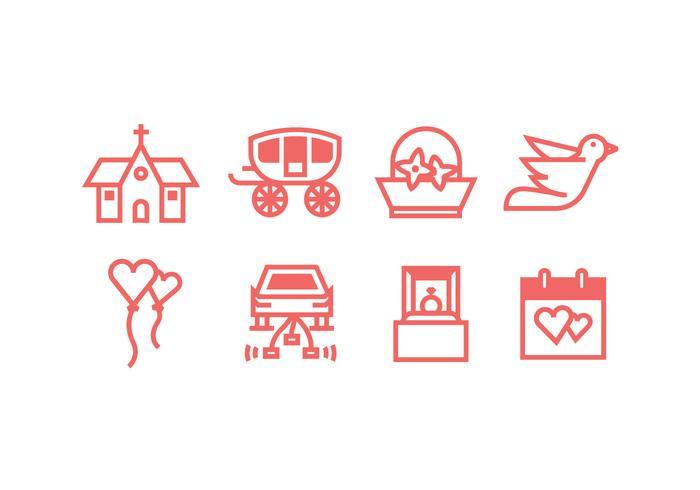 Classic Hochzeit Icons Set