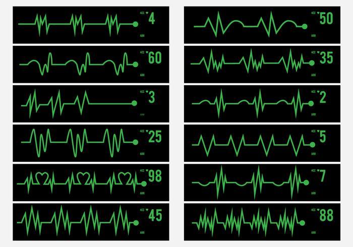 Actividad eléctrica del icono pulso humano