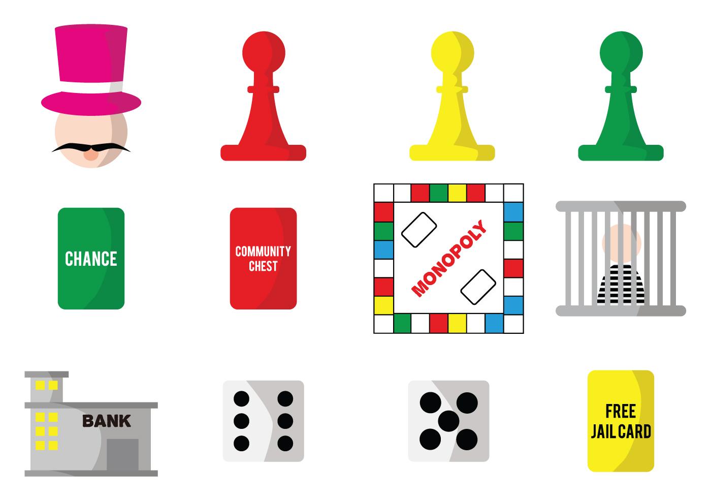 monopoly vector game pieces download free vector art