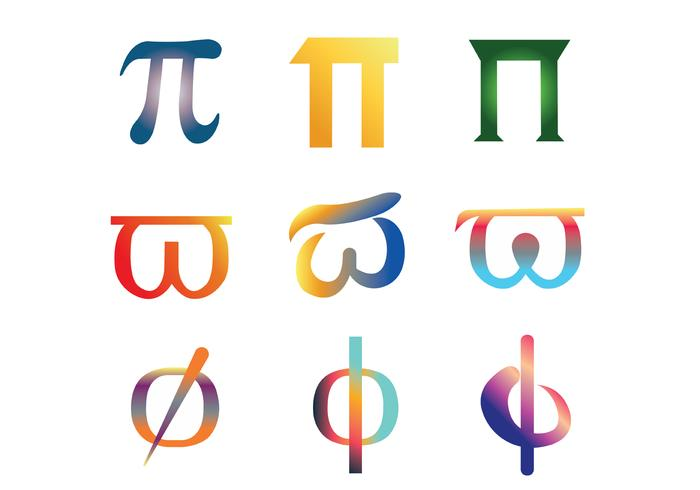 Pi symbool vector pakket