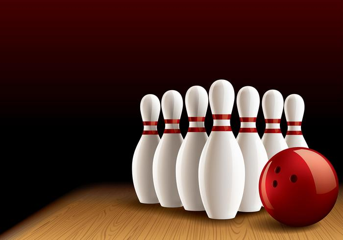 Bowling Lane Realistic Vector
