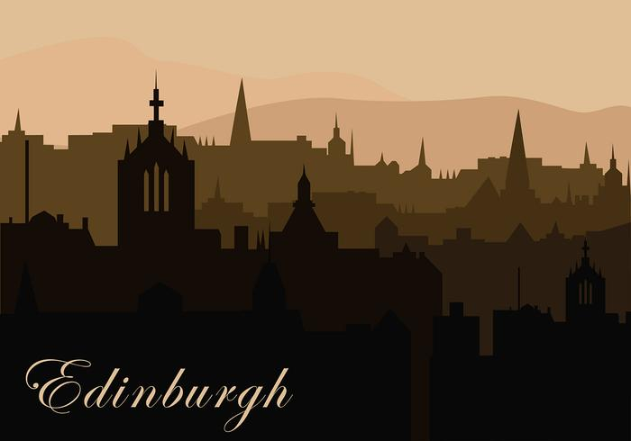Edinburg Background Silhouette Free Vector