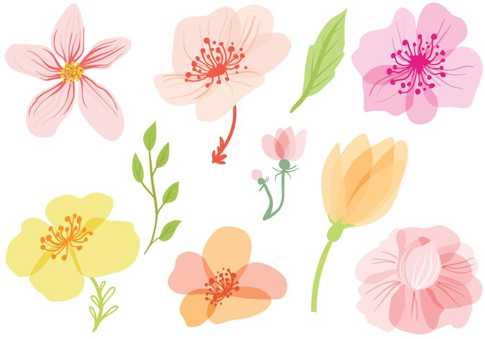 Spring Flowers Vectors Download Free Vector Art Stock Graphics