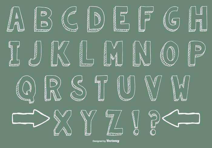 Hand Drawn Alphabet Collection