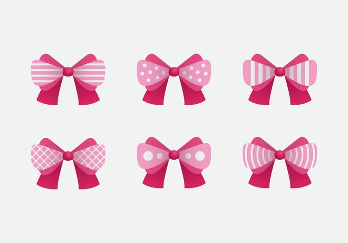 pink Hair Ribbon Pink Vector