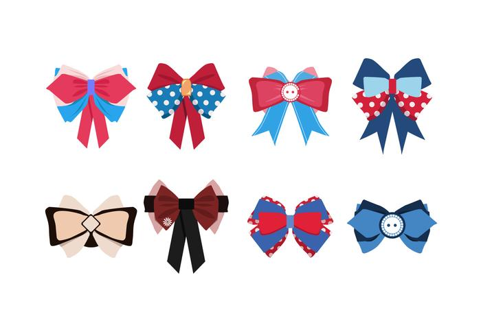 Cute Patriotic Hair Ribbon Free Vector