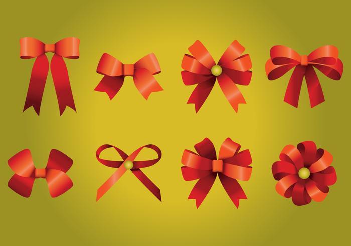 Red Ribbon Bows vektor