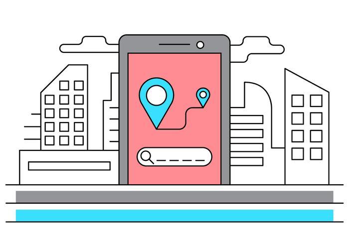 Free Urban Navigation Vector Illustration