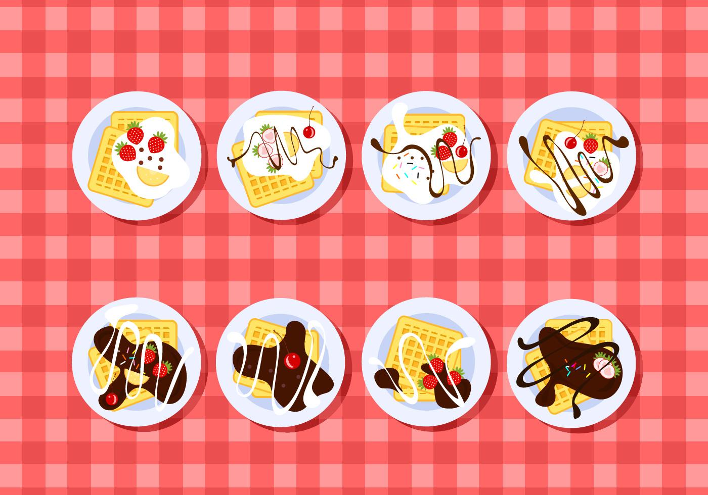 Plating Waffle Free Vector Download Free Vector Art