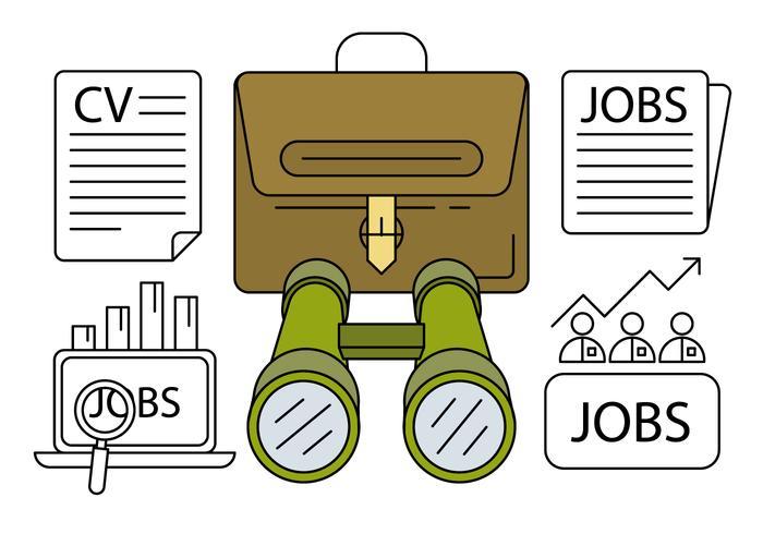 Icônes Chasse linéaires d'emploi