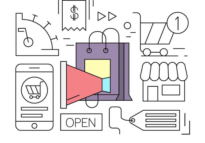Linear Online Shopping Minimal Vector Element