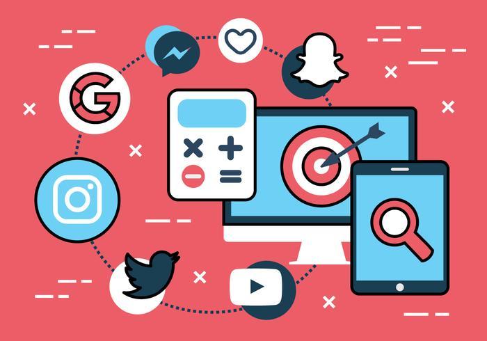 Free Flat Social Media Vector Icons