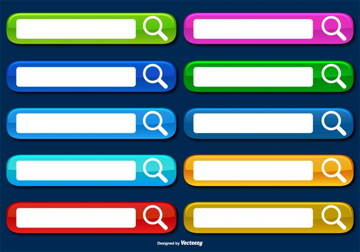 Colorful Collection of Web Search Bars