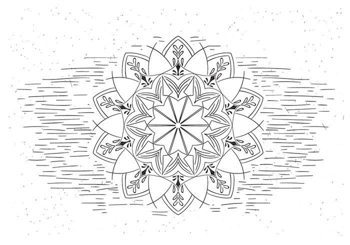 Ilustración libre Mandala de la flor del vector