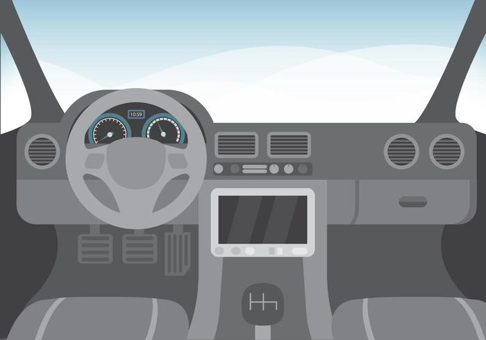 Free Car Interior Illustratie Vector