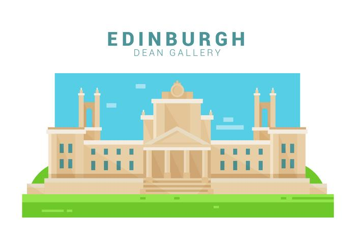 Dean Gallery von Edinburgh Vector Illustration
